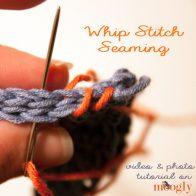 Whip Stitch Seam Tutorial
