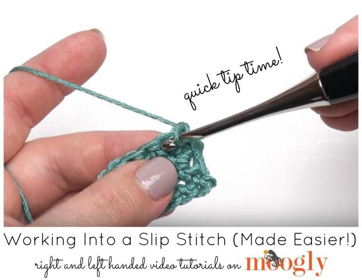 Working into a Slip Stitch Tutorial