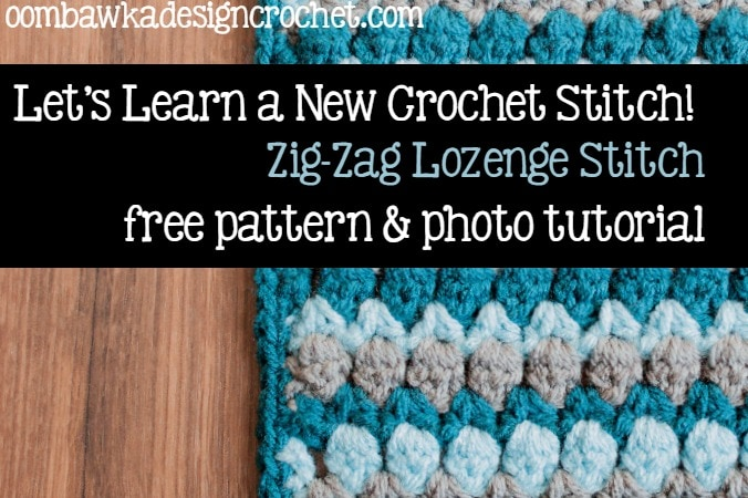 Learn how crochet the Zig Zag Lozenge Stitchpattern with this photo tutorial.