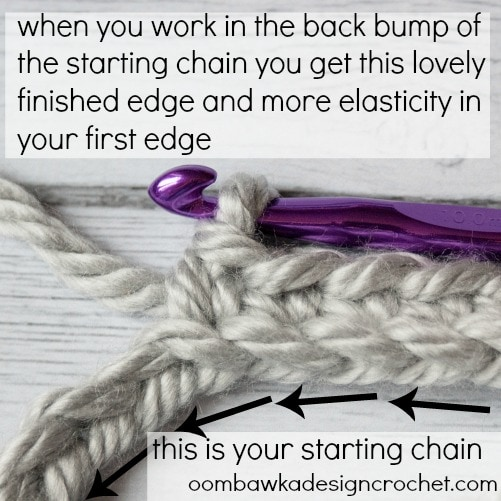 Learn where the back bump is located on the starting chain with this photo tutorial.