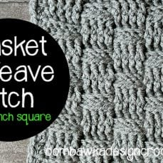 Basket Weave Stitch Tutorial