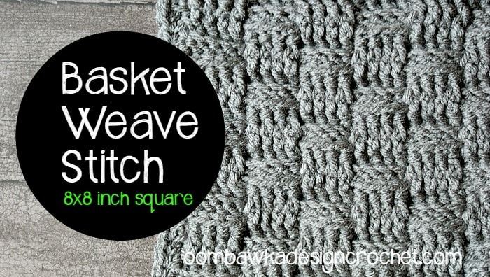Learn how crochet the basketweavestitch pattern with this photo tutorial. Instructions are provided to crochet an 8
