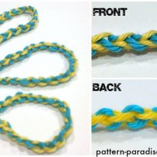 Crochet Cord in Two Colors Tutorial