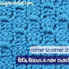 Left Handed Corner to Corner Shell Stitch Tutorial