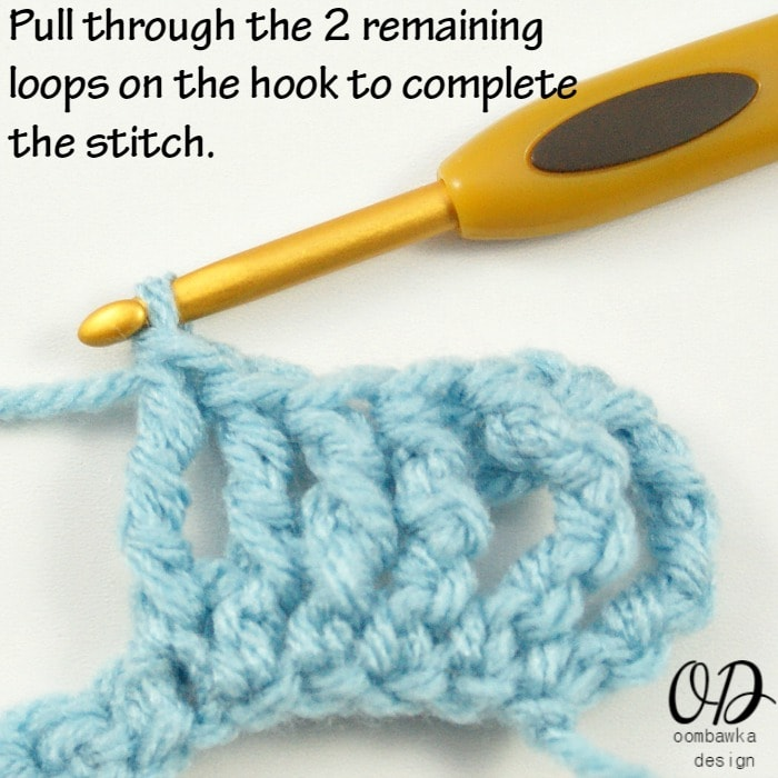 Learn how to crochet the Front Post Double Triple Crochet Stitch (FPdtr) with this photo tutorial.