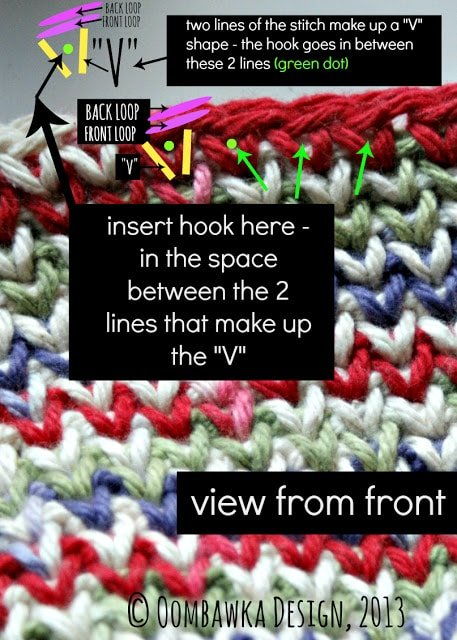 Learn how to crochet the waistcoat stitch with this photo and video tutorial.