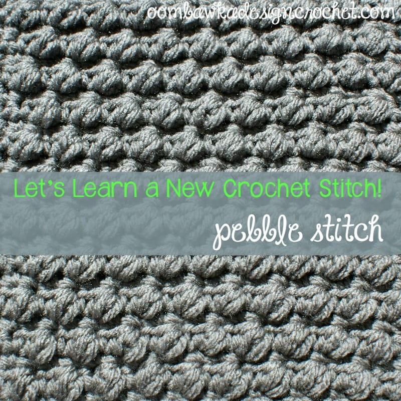 Learn how crochet the pretty pebbles stitch pattern with this photo tutorial. Instructions are provided to crochet an 8