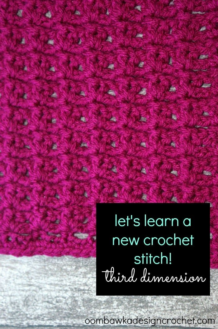 Learn how crochet the third dimensionstitch pattern with this photo tutorial. Instructions are provided to crochet an 8