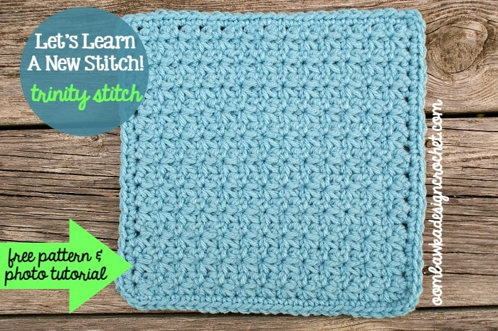 Learn how crochet the trinitystitch pattern with this photo tutorial. Instructions are provided to crochet an 8