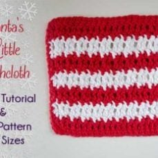 Santa's Little Dishcloth