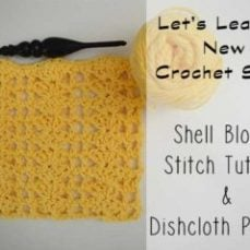 Shell Blocks Dishcloth