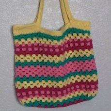 Crochet Granny Beach bag