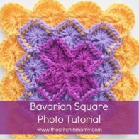 Bavarian Square Tutorial by The Stitchin' Mommy