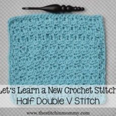 Half Double V Stitch Tutorial
