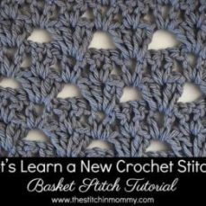 Basket Stitch Tutorial and Afghan Square