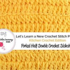 Forked Half Double Crochet Stitch and Dishcloth Pattern