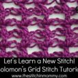 Solomon's Grid Stitch Tutorial