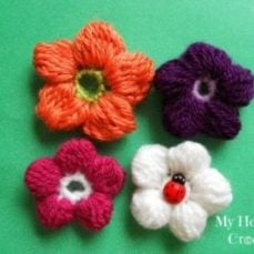 5 Petal Cluster Flower Tutorial