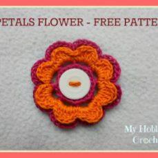 8 Petal Thread Flower Tutorial