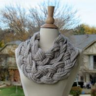 Double Layered Braided Cowl Tutorial