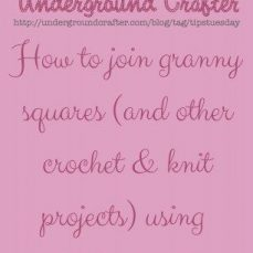 How to Join Granny Squares with a Single Crochet Seam