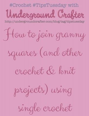 Learn how to join your granny squares with a single crochet seam.