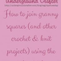 How to Join Granny Squares Using a WhipStitch Seam