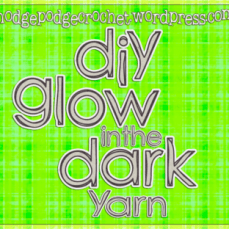 DIY Glow in the Dark Yarn