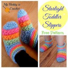 Starlight Toddler Slippers Tutorial