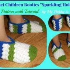 Childrens slippers tutorial