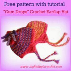 Gum Drops Earflap Hat Tutorial