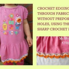 Crochet Edging Worked into Fabric
