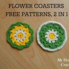 Crochet Daisy Flower Coaster Tutorial