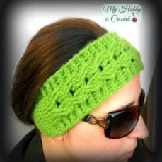 Crochet Cable Easy Fit Headband