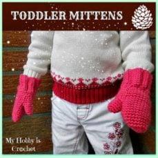 Crochet Toddler Mittens Tutorial