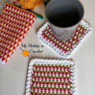 Woven Stitch Coasters Tutorial