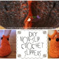 DIY Non-Slip Crochet Slippers!