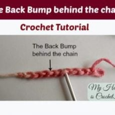 Locate the back bump of the starting chain