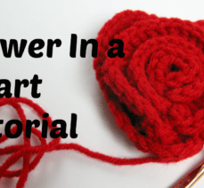 Learn how to crochet a flower in a heart by watching this video tutorial.