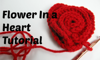 Learn how to crochet a flower in a heart by watching this video tutorial. This is just one of the tutorials available @freecrochettuts
