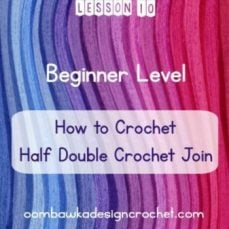 Standing Stitches: Half Double Crochet