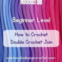 Standing Stitches: Double Crochet Join