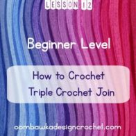 Standing Stitches: Triple Crochet Join