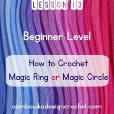 Learn how to crochet the magic ring with this video tutorial.