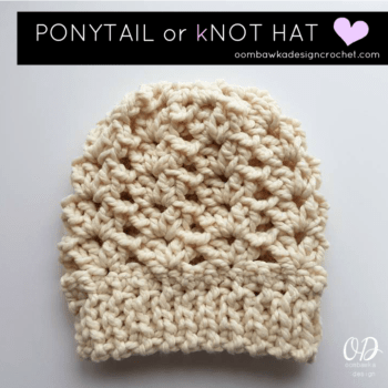 71f01575271 Ponytail or KNOT Hat • Free Crochet Tutorials