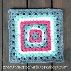 Anemone Granny Lace Square - Creative Crochet Workshop