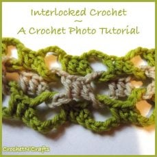 How to Crochet Interlocked Stitches by Rhelena