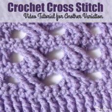 Crochet Cross Stitch Tutorial by Rhelena
