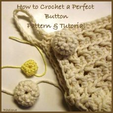Crochet A Perfect Button Tutorial by Rhelena