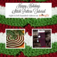 Happy Holidays Stitch Pattern Tutorial by Moogly